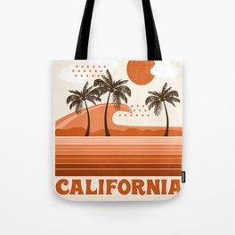 California - retro 70s 1970's sun surfing beach throwback minimal design Tote Bag