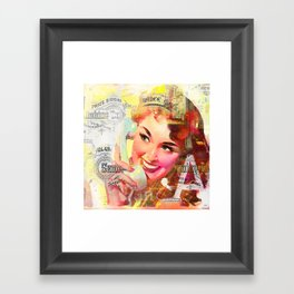 Wait a minute, I'll be right back Framed Art Print
