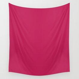 Rose red - solid color Wall Tapestry