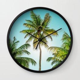 Palms Away - New Caledonia 1 Wall Clock