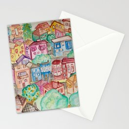 San Francisco Houses Stationery Cards
