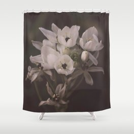 White flowers for you Shower Curtain