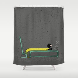 Pure Laziness by Thao Vu Shower Curtain