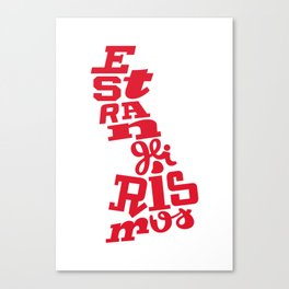 Estrangeirismos UK Canvas Print