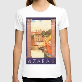 Vintage Zara Italy Travel Poster T-shirt