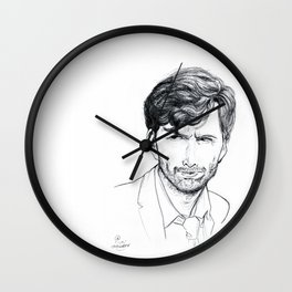 David Tennant as Broadchurch's Alec Hardy (or Gracepoint's Emmett Carver) Etching Wall Clock