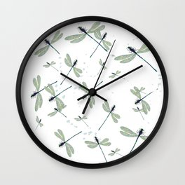 dragonflies on a sunny day Wall Clock