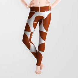 Burnt orange mid century moderna Leggings
