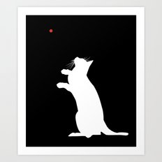 Laser Kitty Art Print
