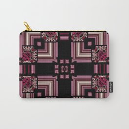Abstract Pink Black Square Multi Pattern design Carry-All Pouch