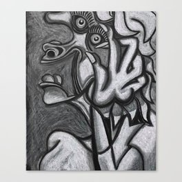 Woman Screaming Canvas Print