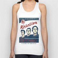 propaganda Tank Tops featuring The Rebellion - Propaganda by Head Glitch