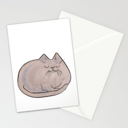 Sleepy Kitty Lump Stationery Cards