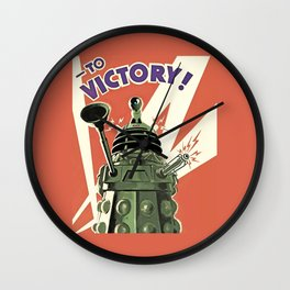 Daleks To Victory - Doctor Who Wall Clock