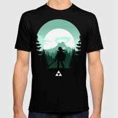 The Legend of Zelda - Green Version Black MEDIUM Mens Fitted Tee