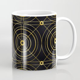 Gold and Black Art Deco: Sipping Morning Mimosas Coffee Mug