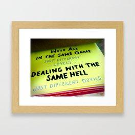 THE SAME GAME Framed Art Print