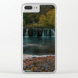 Yorkshire Dales Waterfall. Clear iPhone Case
