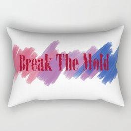 Break The Mold - Bi Pride Rectangular Pillow