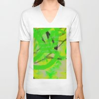 artsy V-neck T-shirts featuring Artsy by DesignByAmiee