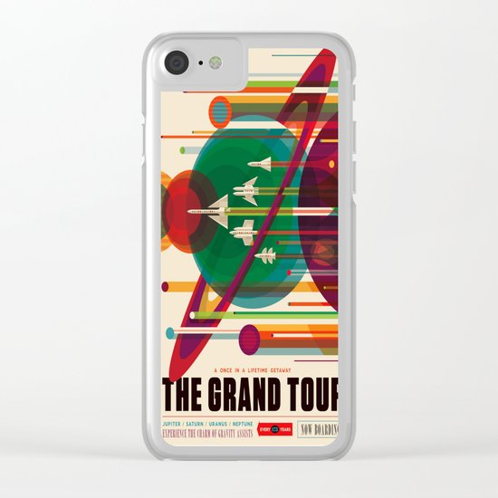 NASA/JPL Poster (The Grand Tour) Clear iPhone Case