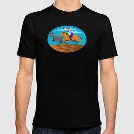 Rodeo Cowboy Lasso Cow T-shirt