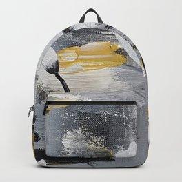 Black/Gold Floral Backpack