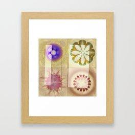 Gleeted Substance Flower  ID:16165-082307-33861 Framed Art Print