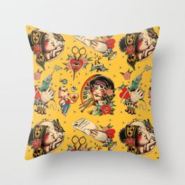 Makers Gonna Make Patter Gold Throw Pillow