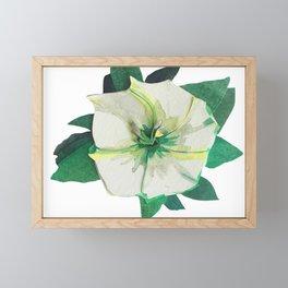 White Flower Framed Mini Art Print