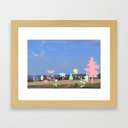 Landscape floral Framed Art Print