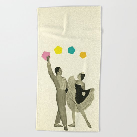 Throwing Shapes on the Dance Floor Beach Towel