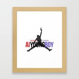 YOUNGBOY - NEVER BROKE AGAIN Framed Art Print
