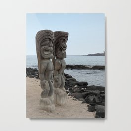Hawaiian Tikis Metal Print