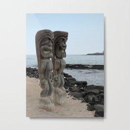 Hawaiian Tikis Metal Print