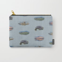 Highland Landmarks in blue Carry-All Pouch