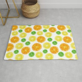 Citrus medley! Oranges, lemons, and limes.  Rug