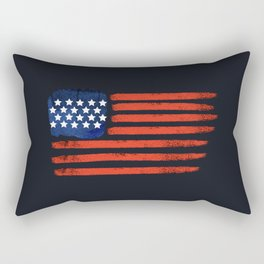 4th of July Brushed American Flag For Patriots Rectangular Pillow