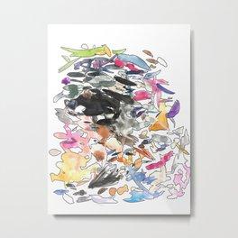 coloured splotches Metal Print