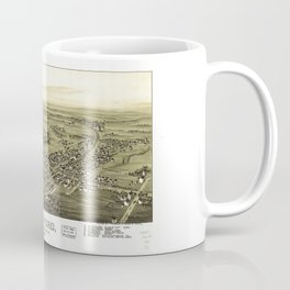 Aerial View of Telford, Pennsylvania (1894) Coffee Mug