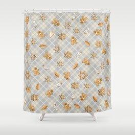 Gingerbread Light Shower Curtain