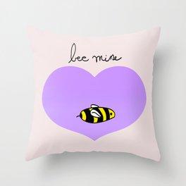 Bee Mine, Oh My Cliche Valentine Throw Pillow
