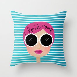 I love myself Throw Pillow