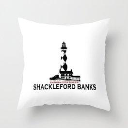 Shackleford Banks - North Carolina. Throw Pillow