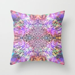 Centaurus Cosmic Mandala Throw Pillow