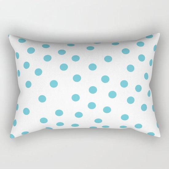 Simply Dots in Seaside Blue Rectangular Pillow