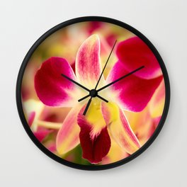 Orchids In Thai Wall Clock