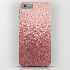 Rose quartz- pink metal foil backround iPhone 6 Plus Slim Case