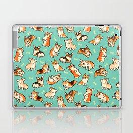 Jolly corgis in green Laptop & iPad Skin