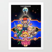earthbound Art Prints featuring Welcome to Earthbound by kichisu